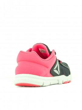 Zapatilla Reebok Yourflex Train 9.0 Negro/Rosa Niña