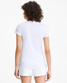 Camiseta Puma Amplified Blanco Mujer