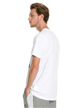 Camiseta Puma Graphic Box Logo Blanco Hombre